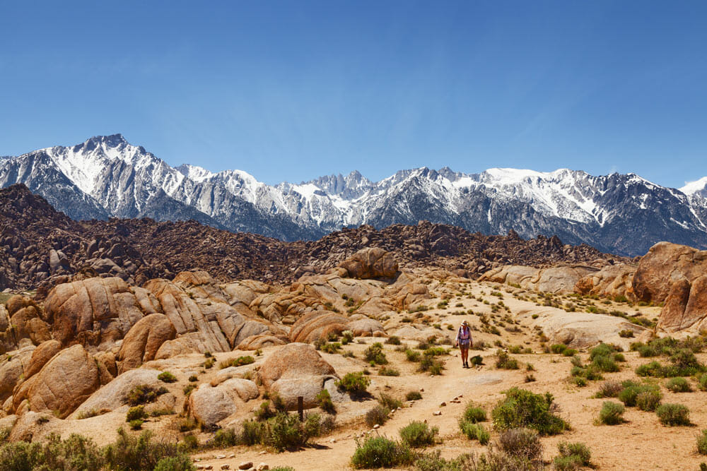 Hiking in the Alabama Hills, California