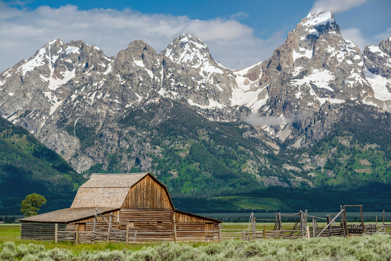 historic mormon barn in grand teton national park