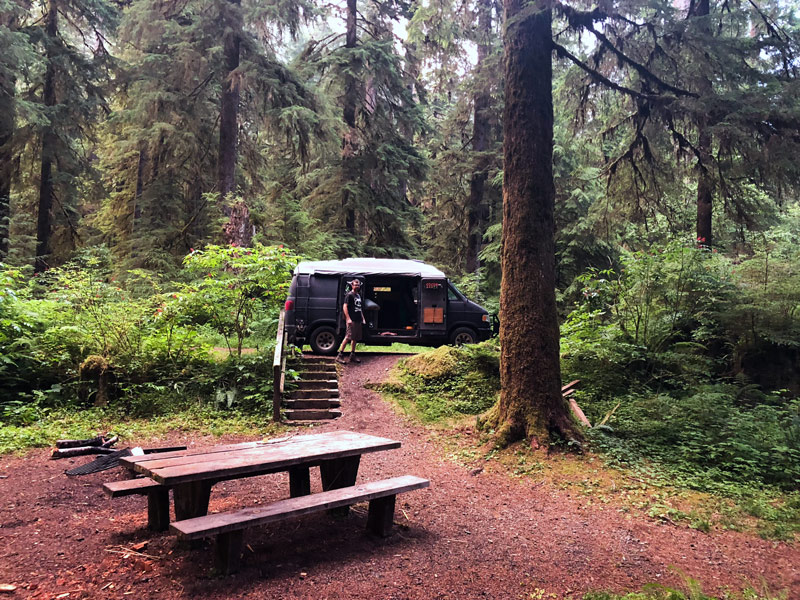 Camping In The Hoh Rain Forest Olympic National Park