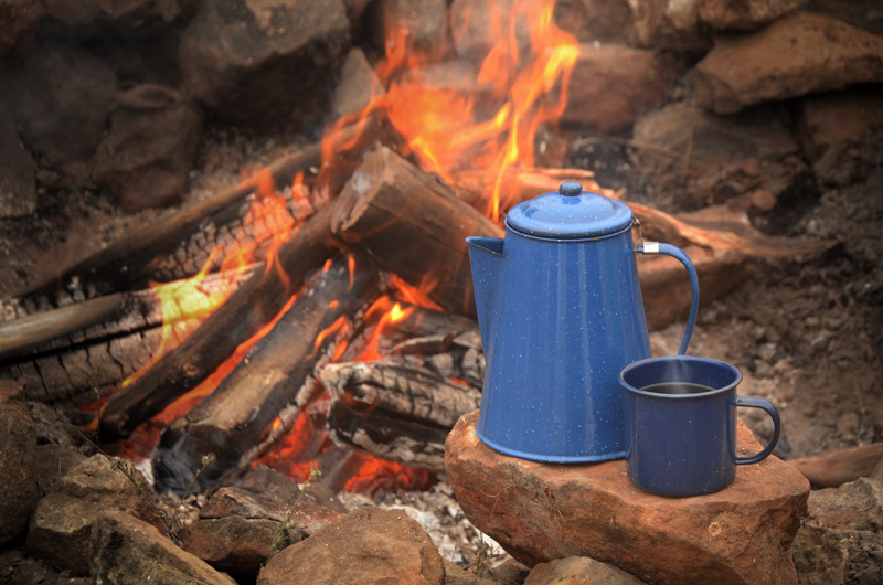 How to make percolator camp coffee