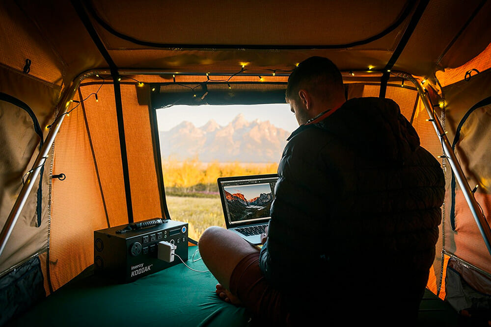 powering an rv with a portable solar generator for camping