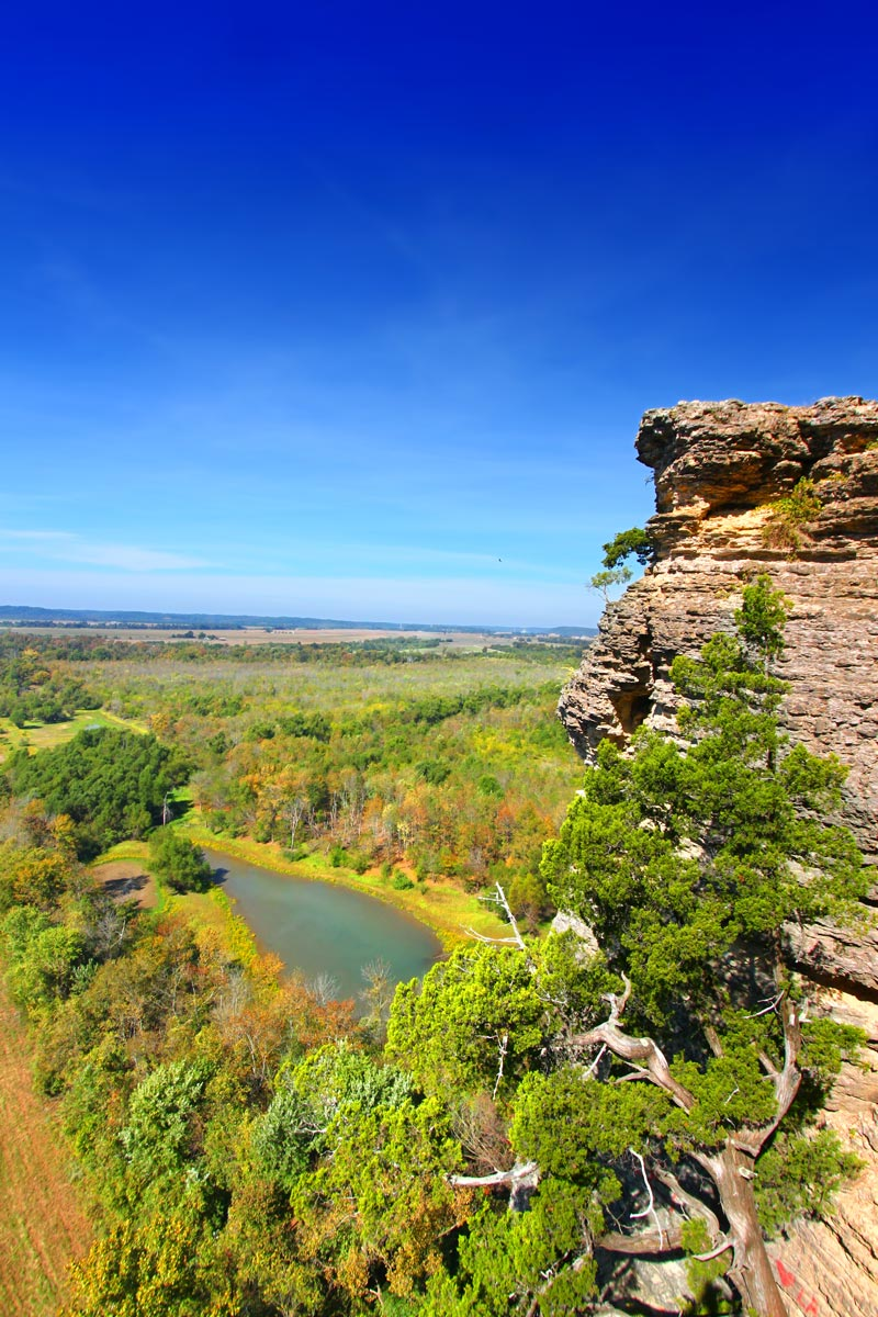 Inspiration point in the shawnee national forest, southern illinois