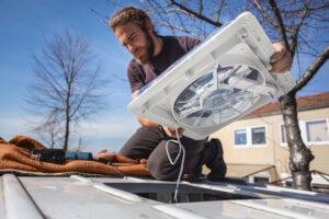 installing a camper van vent fan