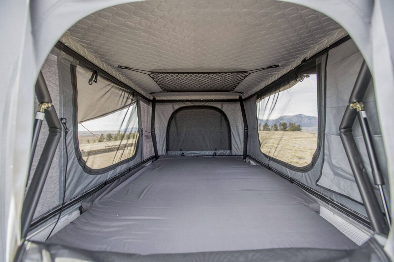 Interior of a Tepui Roof Top Tent on a Jeep