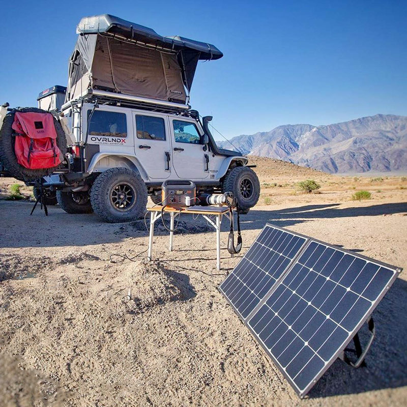 Camping with a Jackery Explorer 500 Solar Generator