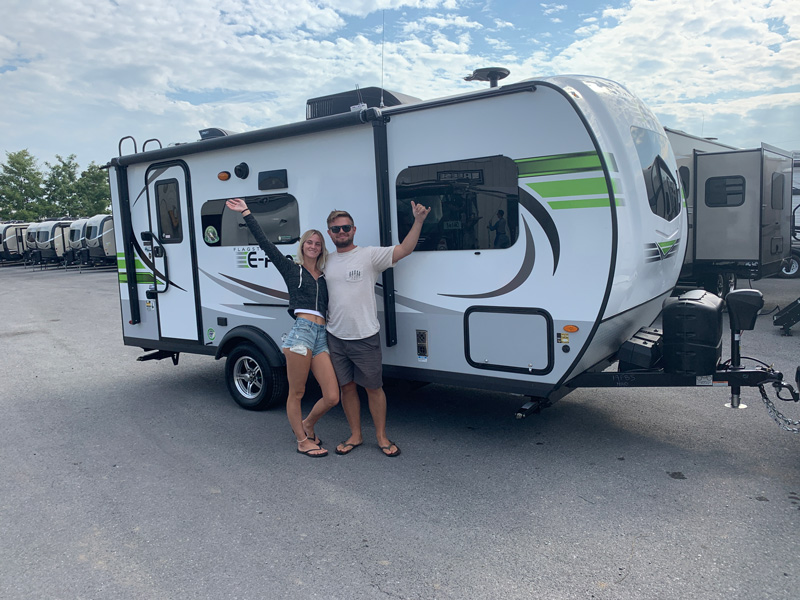 camping in a geo pro trailer