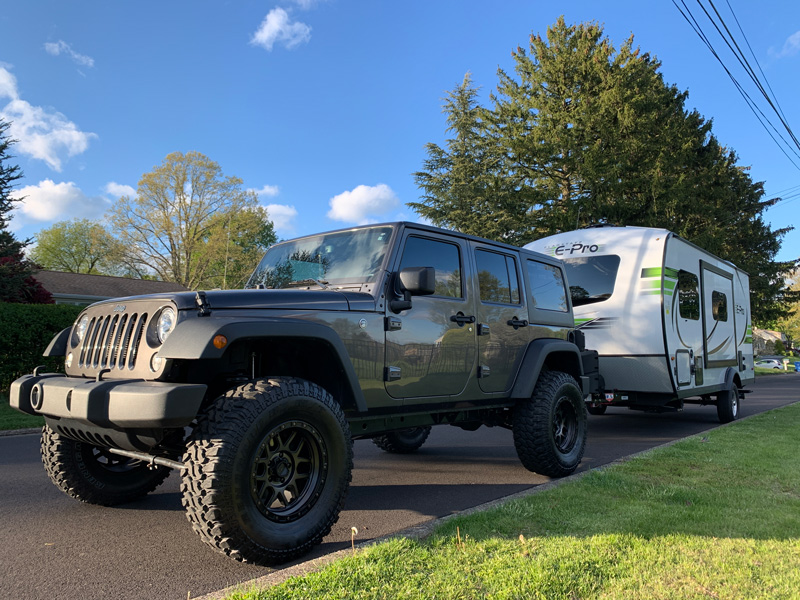 Traveling With A Jeep Wrangler And Camper Trailer