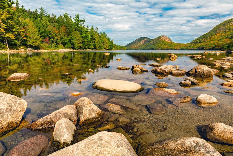 jordan pond lake in acadia national park