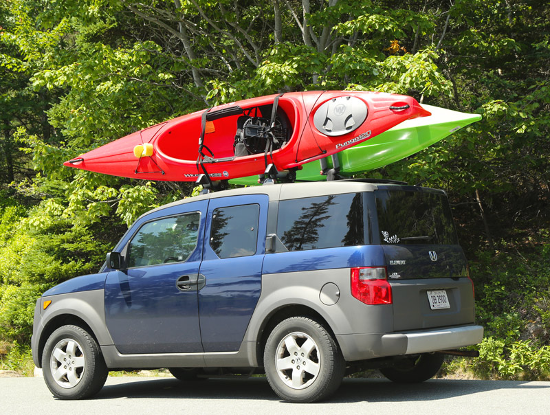 kayak carrier on a honda element