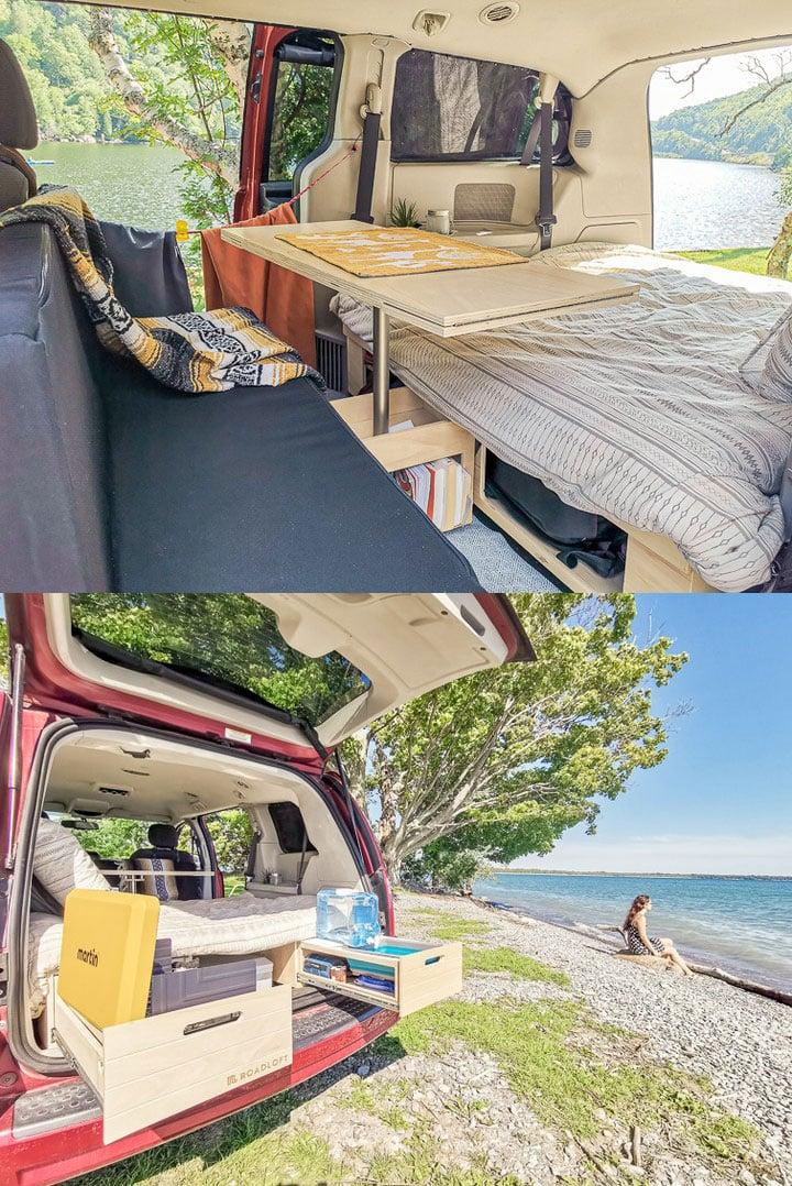 kia sedona minivan camper conversion