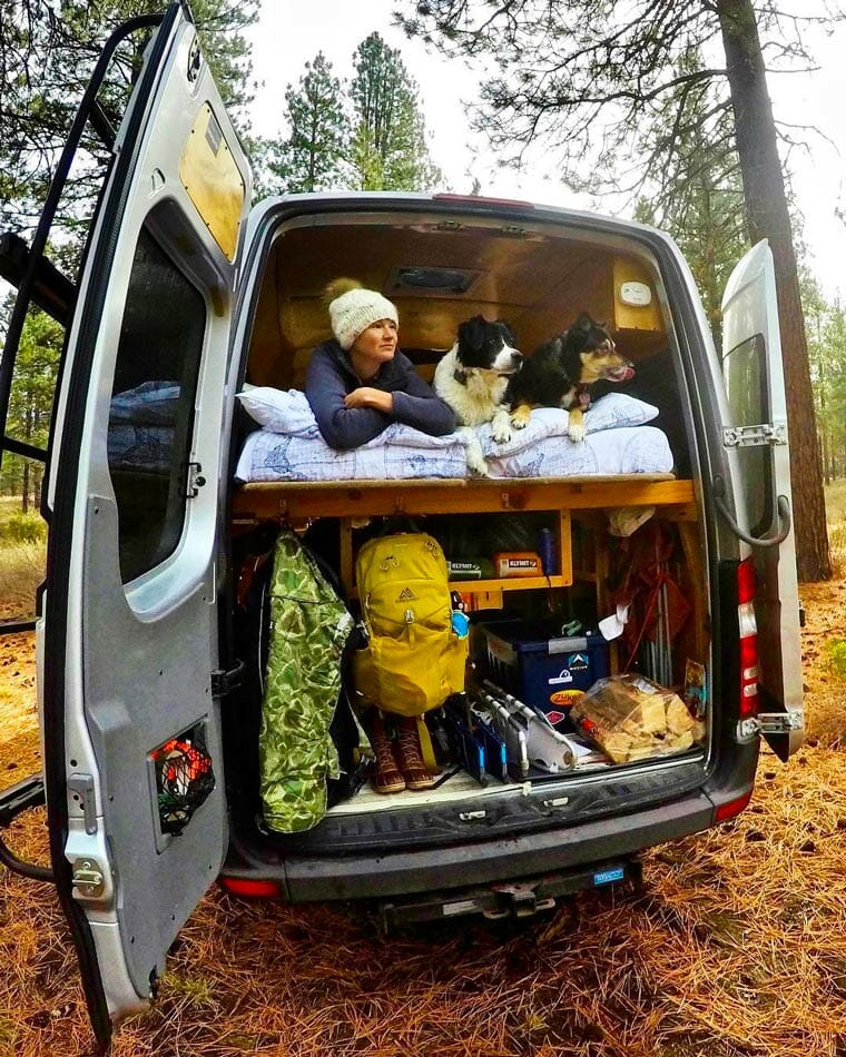 living in a van with a do