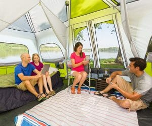 Large Camping Tent Interior