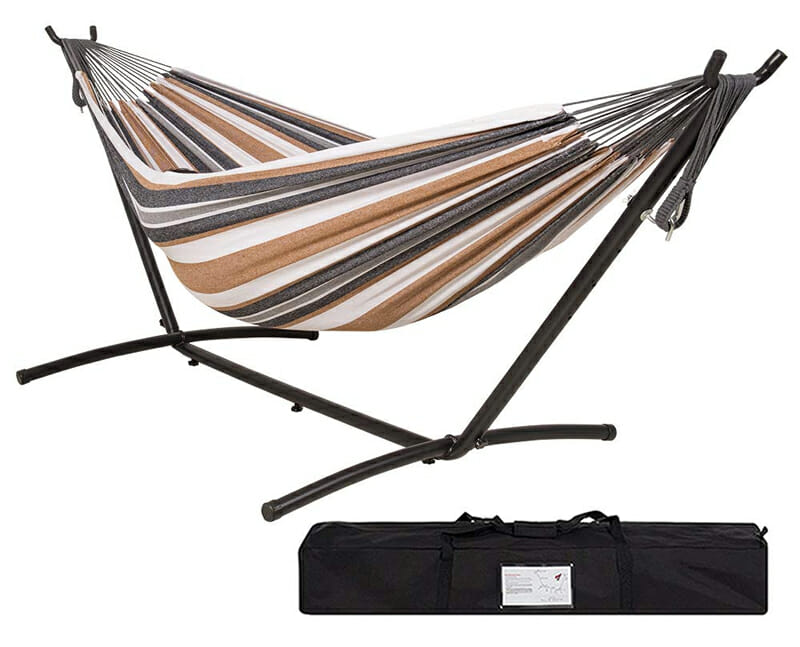 lazy daze portable hammock stand for camping or the backyard