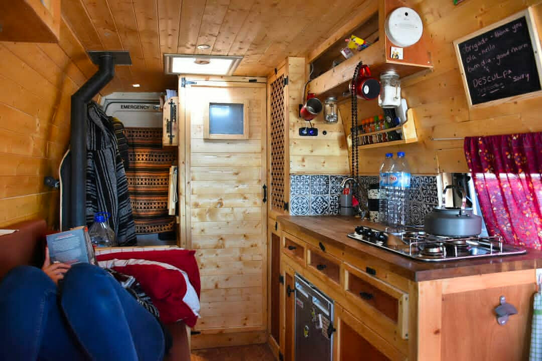 living in a campervan conversion full time
