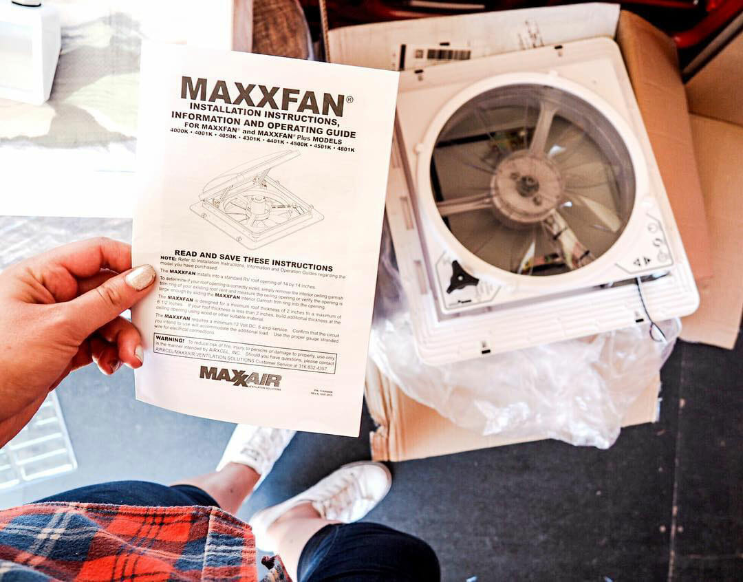 How to install a Maxxair fan