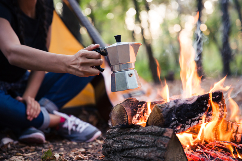 Moka pot camping coffee recipe