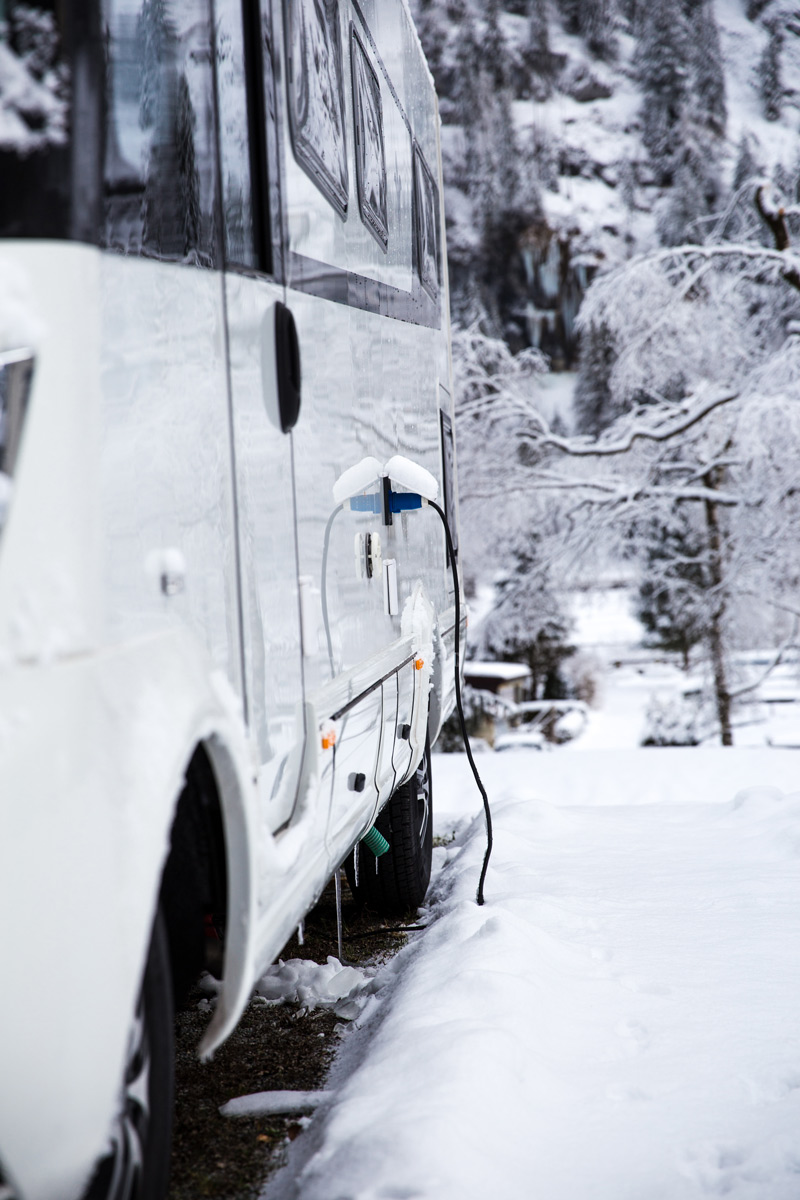 Disconnect the electric system when you store an RV for winter