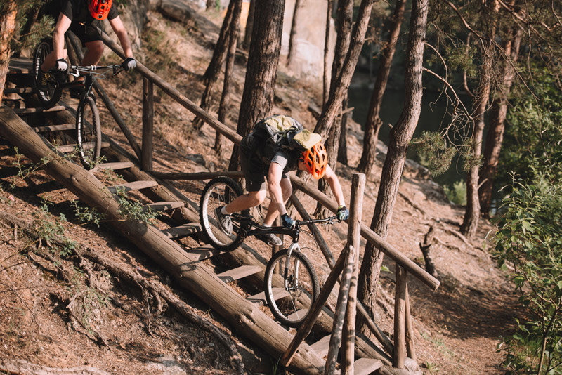 Mountain bike trail ride adventure