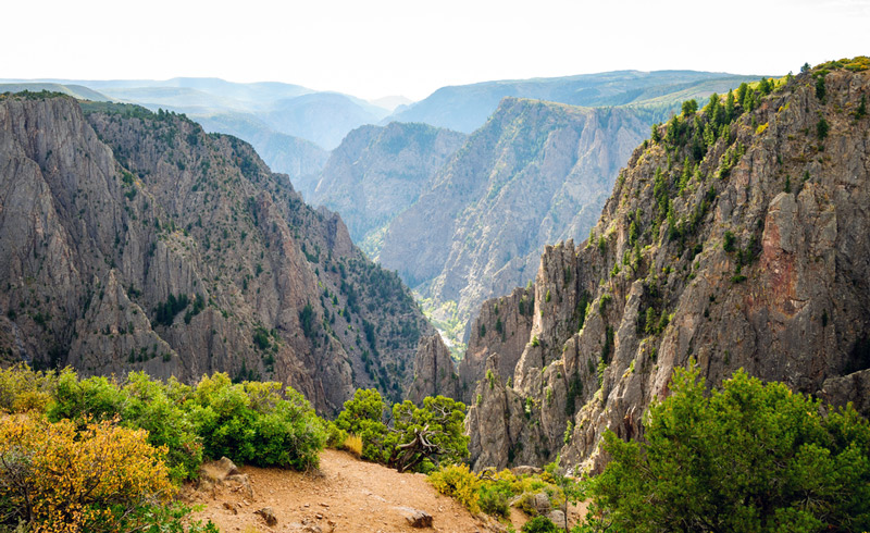 overlook at black canyon of the gunnison national park