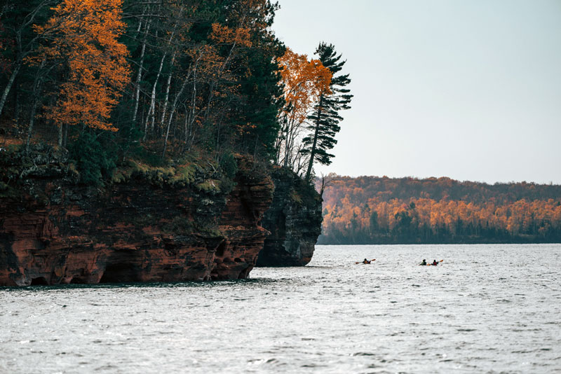 Kayaking In Apostle Islands National Park Wisconsin