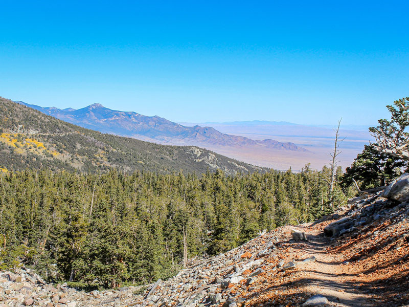 hiking to wheeler peak in great basin national park nevada