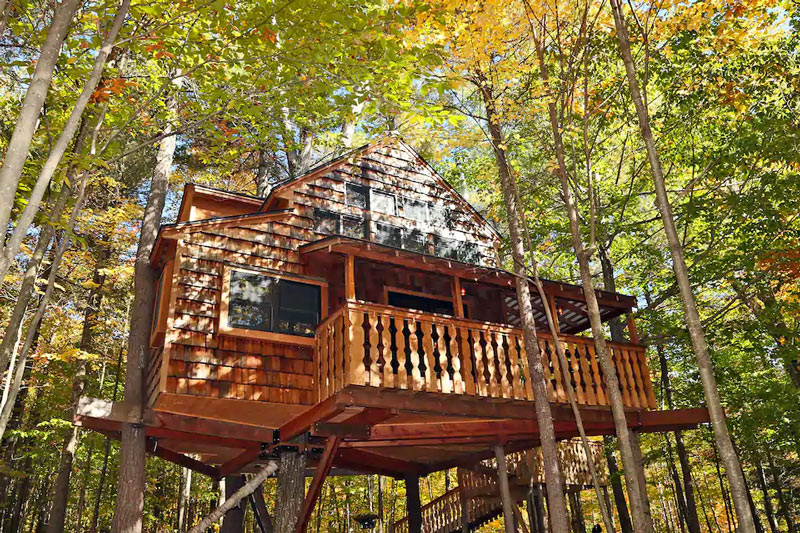 New Hampshire Treehouse Cabin Rental For The Ultimate Glamping Staycation