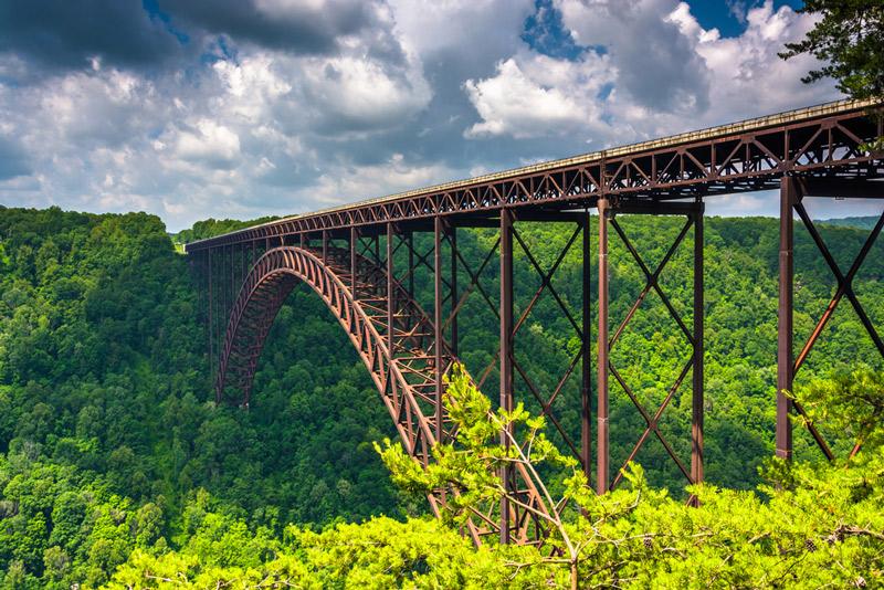 bridge in new river gorge national park west virginia