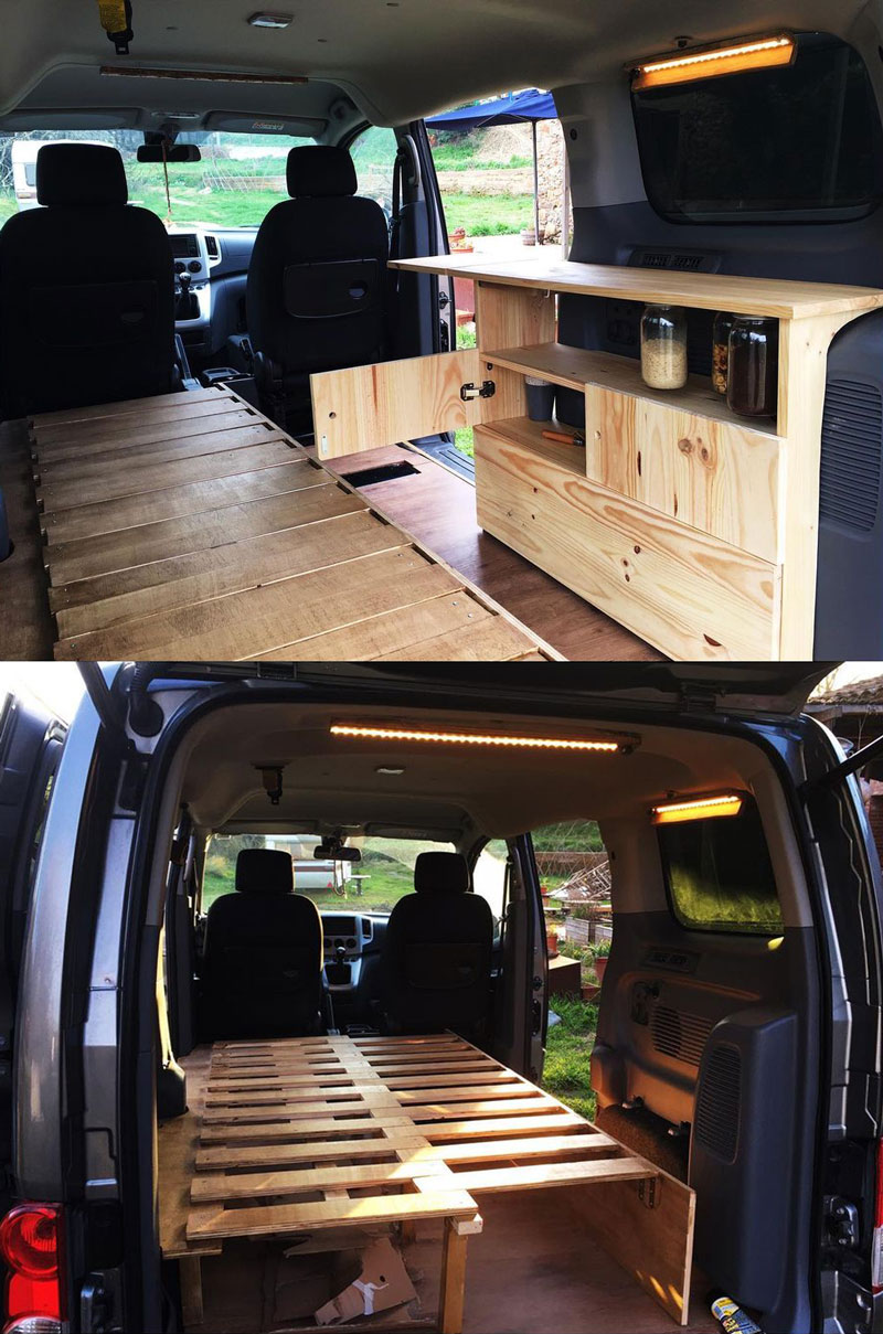 Nissan NV200 camper van conversion