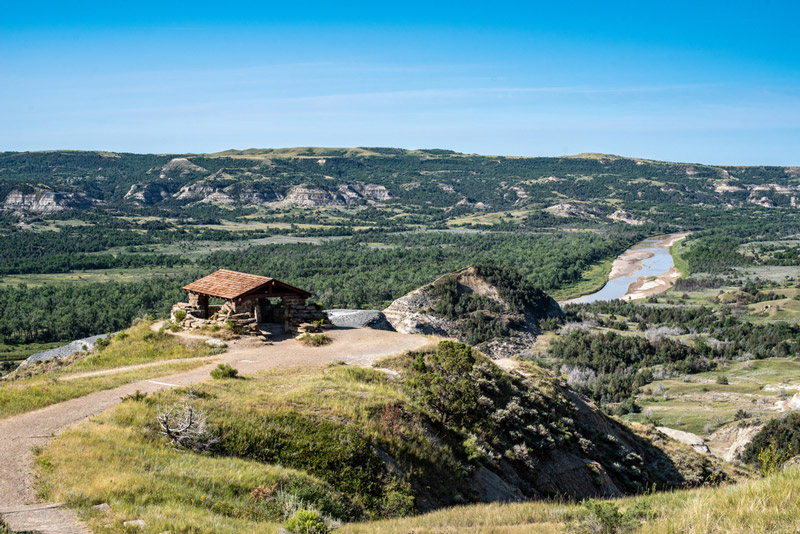 Riverbend Overlook In Theodore Roosevelt National Park North Dakota