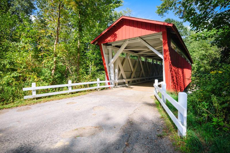 bridge in cuyahoga valley national park in ohio