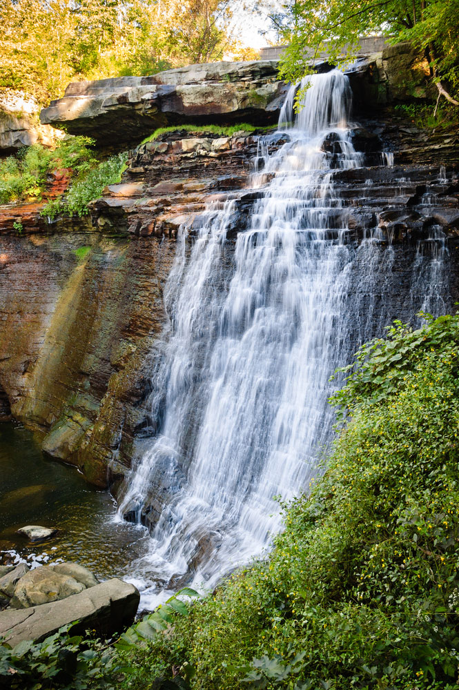 cuyahoga valley national park waterfall in ohio park