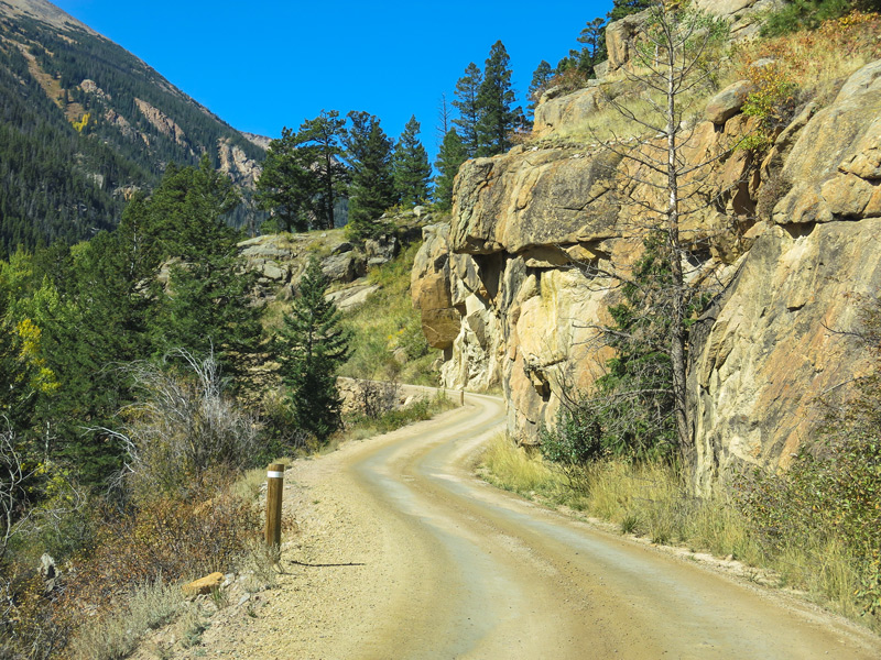 old fall river road in rocky mountain national park colorado
