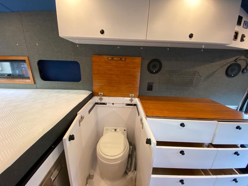 overland van project camper bathroom design