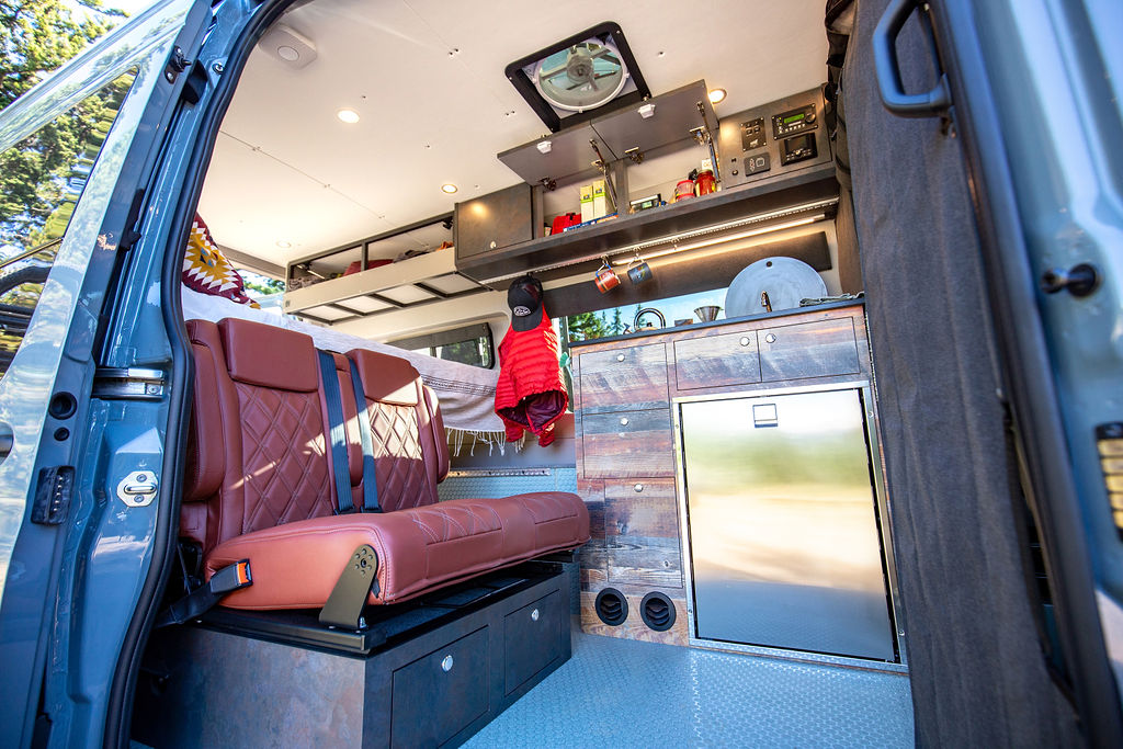 outside van mercedes sprinter camper conversion