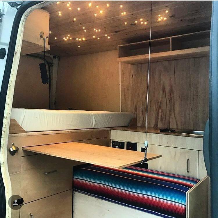 adding extra shelves to a diy camper van build