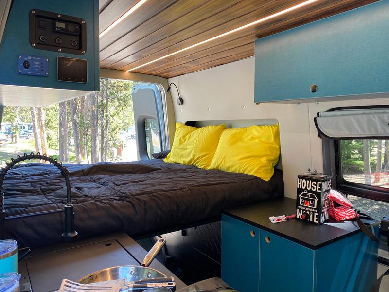 camper van upfit interior