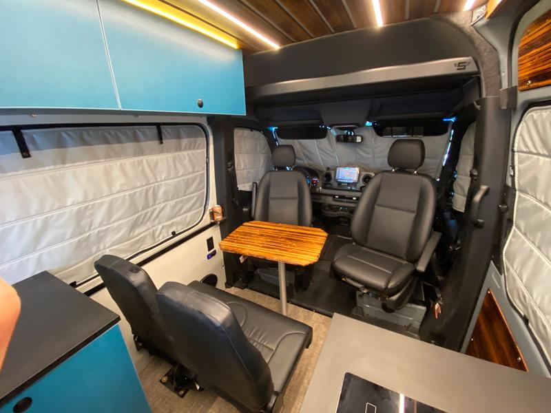 seating in a camper van