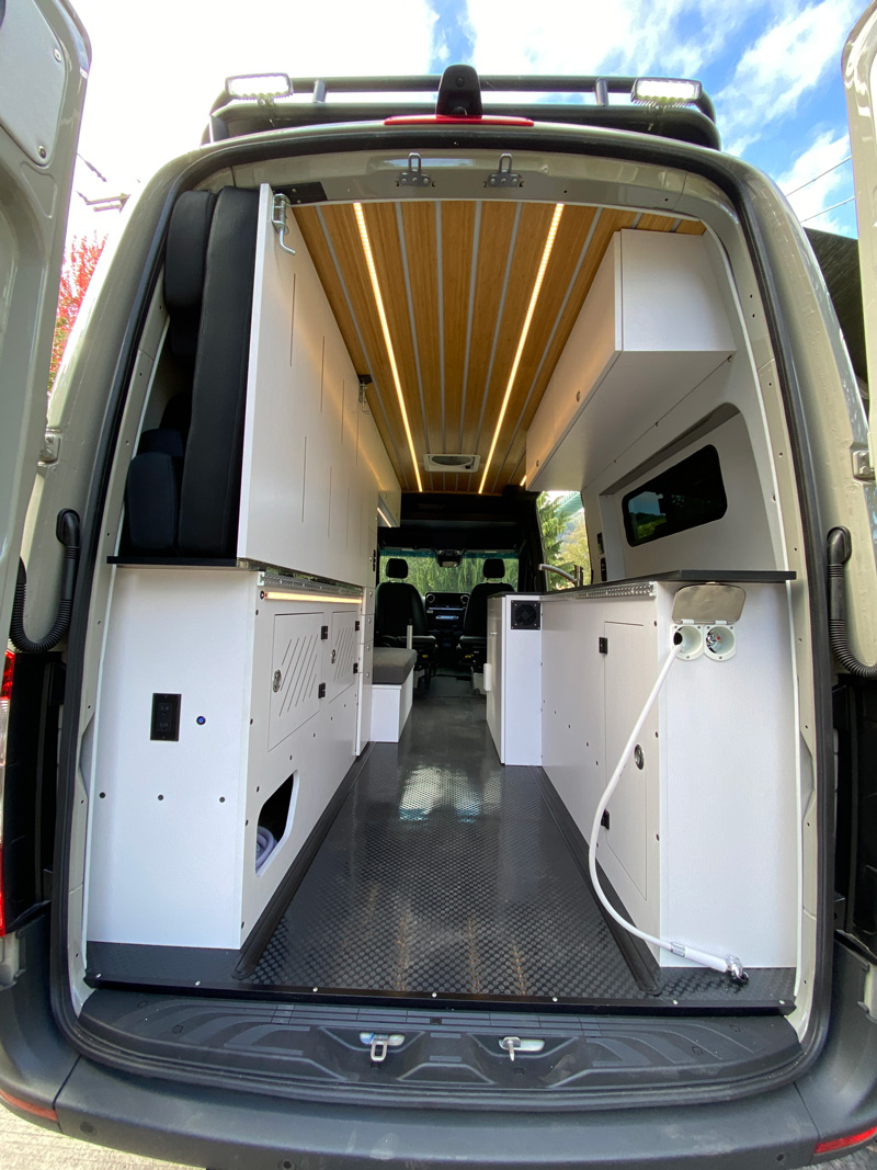 overland van project conversion with a murphy bed