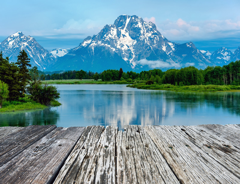 oxbow bend on the snake river in grand teton national park wyoming