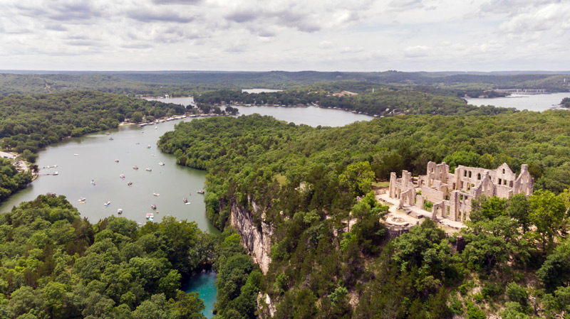Castle Ruins At Lake Of The Ozarks National Riverway
