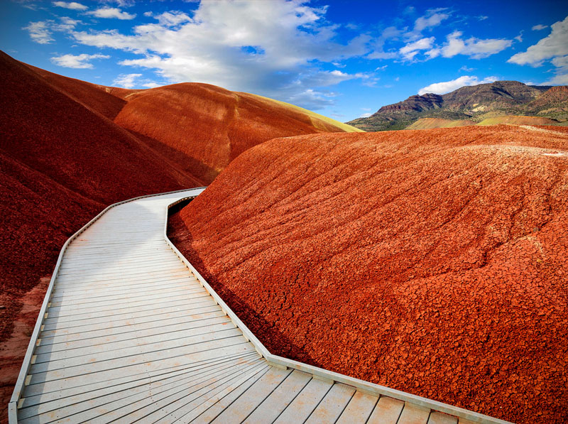 Painted Hills Trail at John Day Fossil Beds National Park