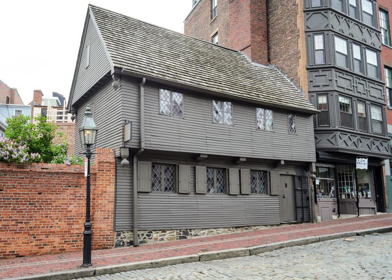 paul revere house in boston national historic park