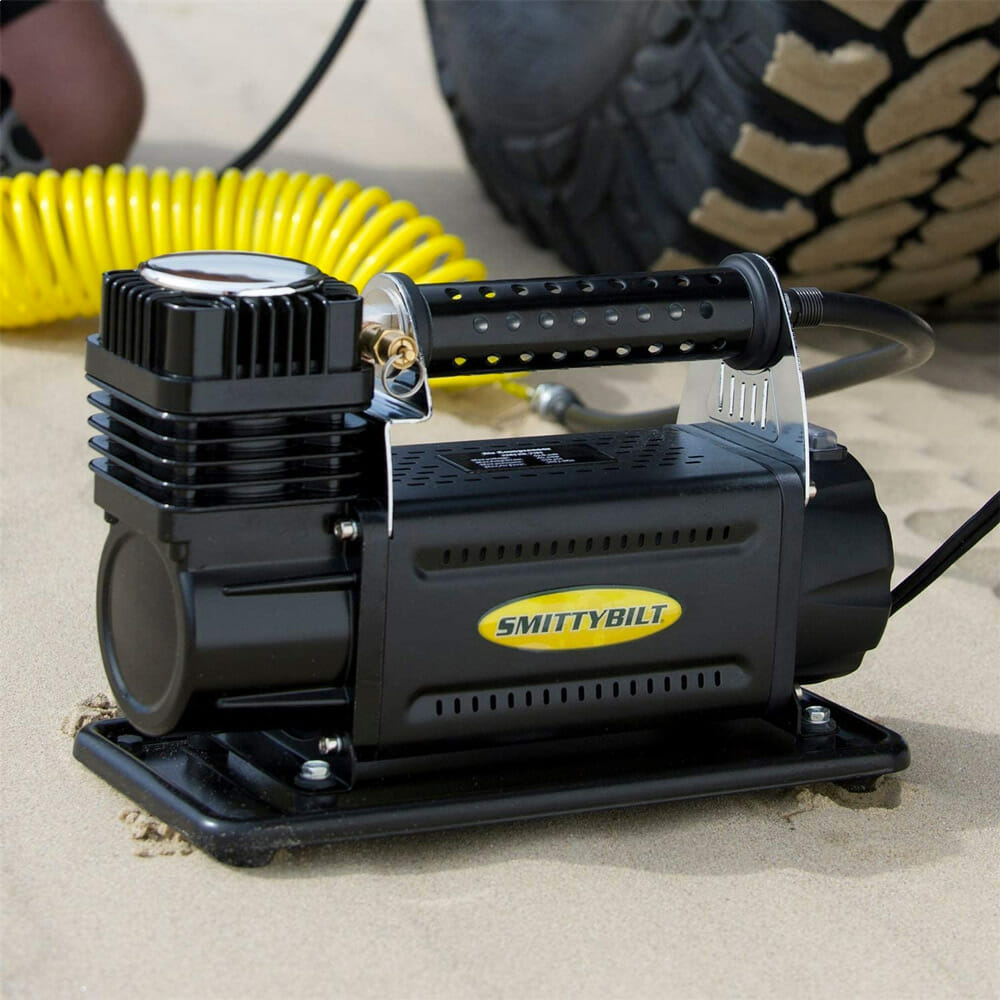 portable air compressor for off road travel