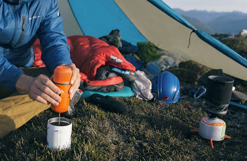 Portable camping espresso maker recipe