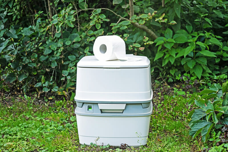 portable cassette toilet to use when camping
