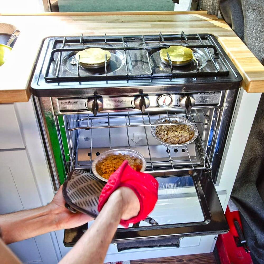 baking dessert in the best portable propane oven