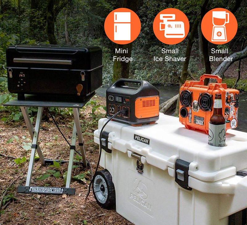 Powering a campground with a Jackery Explorer 500