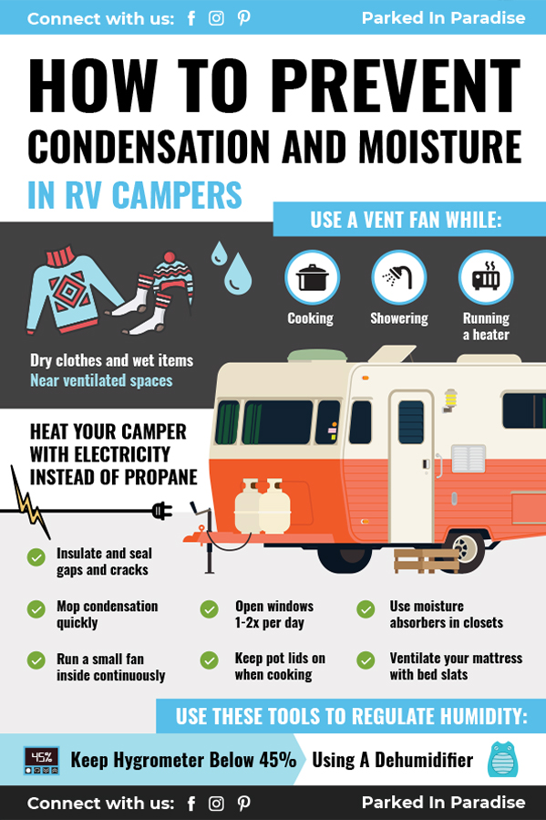 tips and advice to prevent condensation and moisture in your RV motorhome
