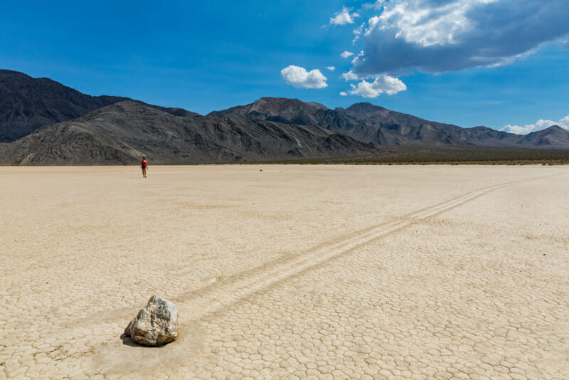 camping near the racetrack playa at death valley national park