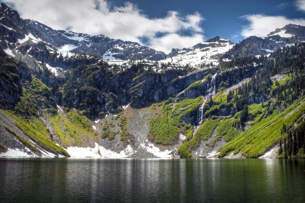 Rainy Lake In North Cascades National Park